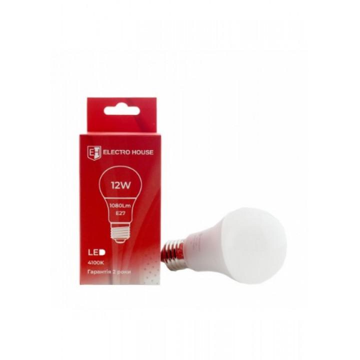 Светодиодная лампа ELECTRO HOUSE 12w E27 4100k