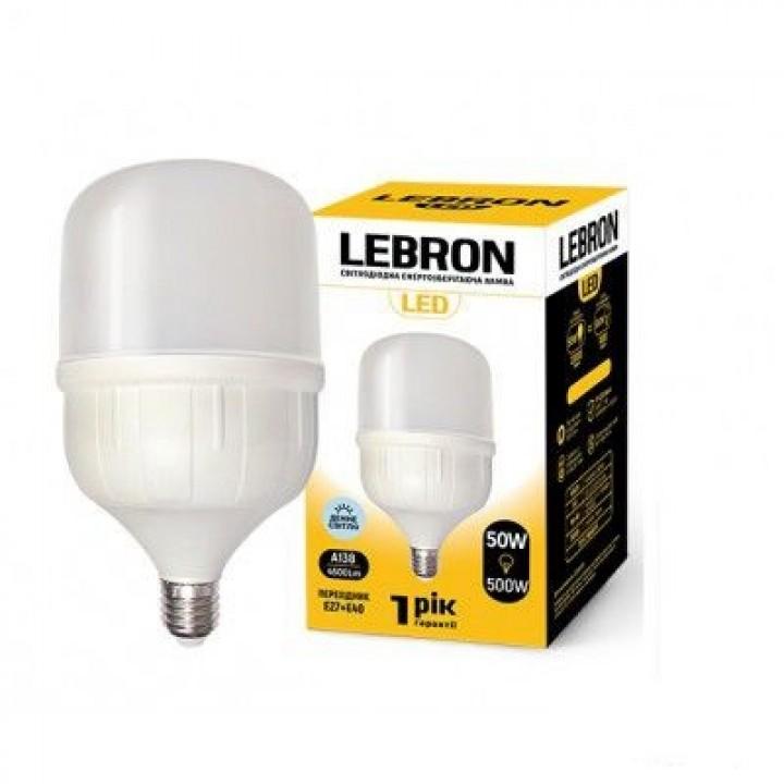 Светодиодная лампа LEBRONE e27 50W 6500k