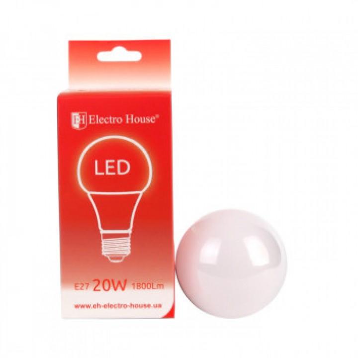 Светодиодная лампа ELECTRO HOUSE 20w E27 4100k