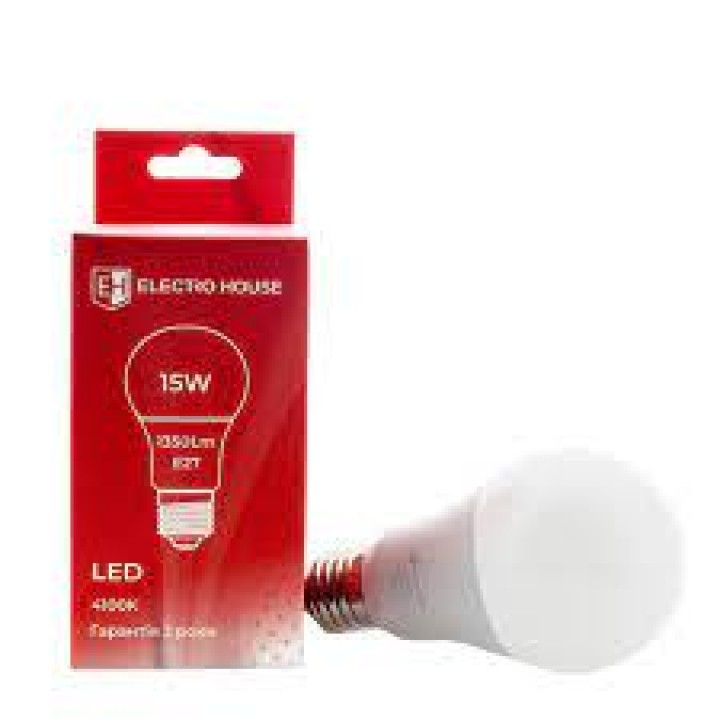 Светодиодная лампа ELECTRO HOUSE 15w E27 4100k