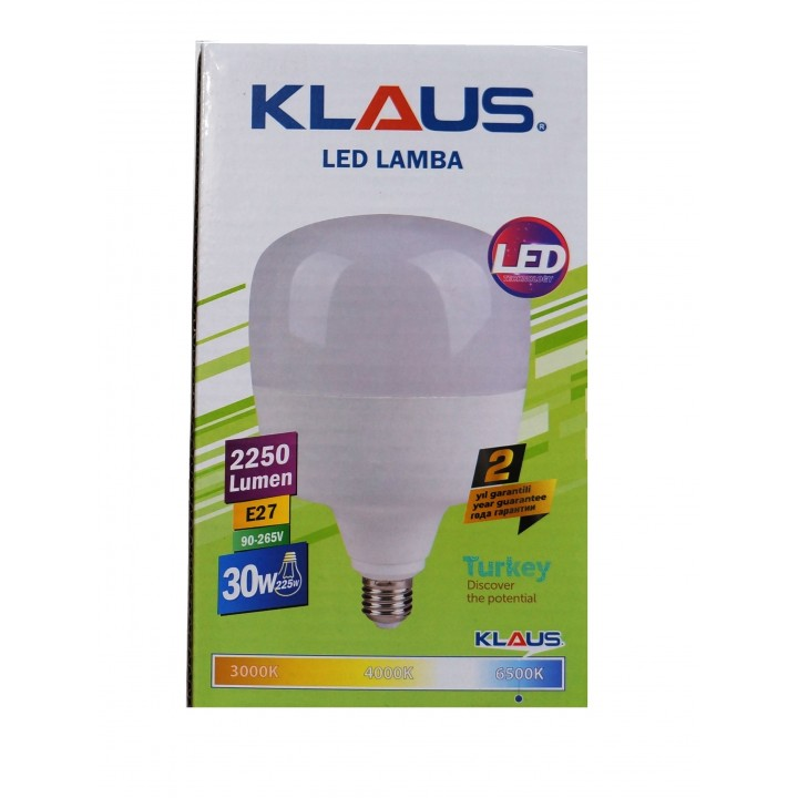 Светодиодная лампа KLAUSE E27 30W 6500K