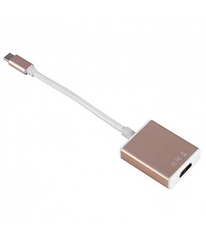 Конвертер Type-C в HDMI USB 3.0 4K HDTV Digital Adapter Cable Gold