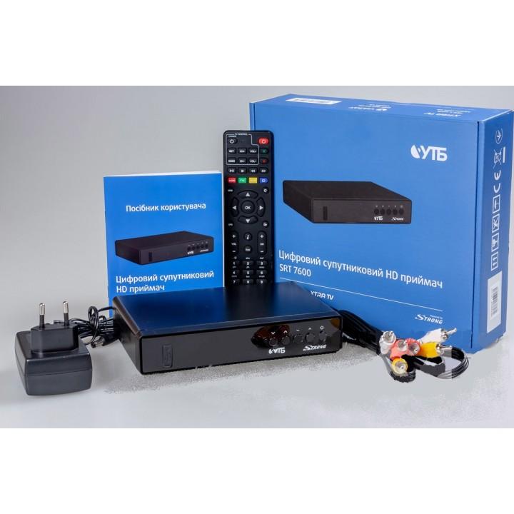 T2 тюнер Strong SRT 7600 (Viasat / Xtra TV / УТБ)