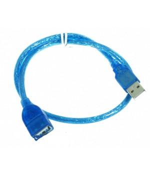 Кабель USB AM/AF 2.0 1.5m blue