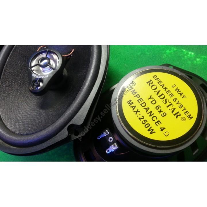 Авто динамики 3-х полосные ROADSTAR YD-6*9 (цена за 1 динамик)