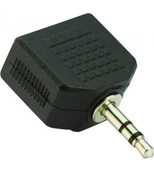 Переходник-штекер audio 3.5m /2*3.5 f