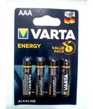 Батарейка Varta LR03 Energy (блистер 4 батарейки)