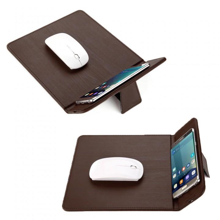 Wireless charger 3in 1(коврик для мыши.беспроводная зарядка.держатель-подставка)
