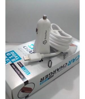 Автомобильное зарядное устройство Soloffer C209 + кабель usb type-c