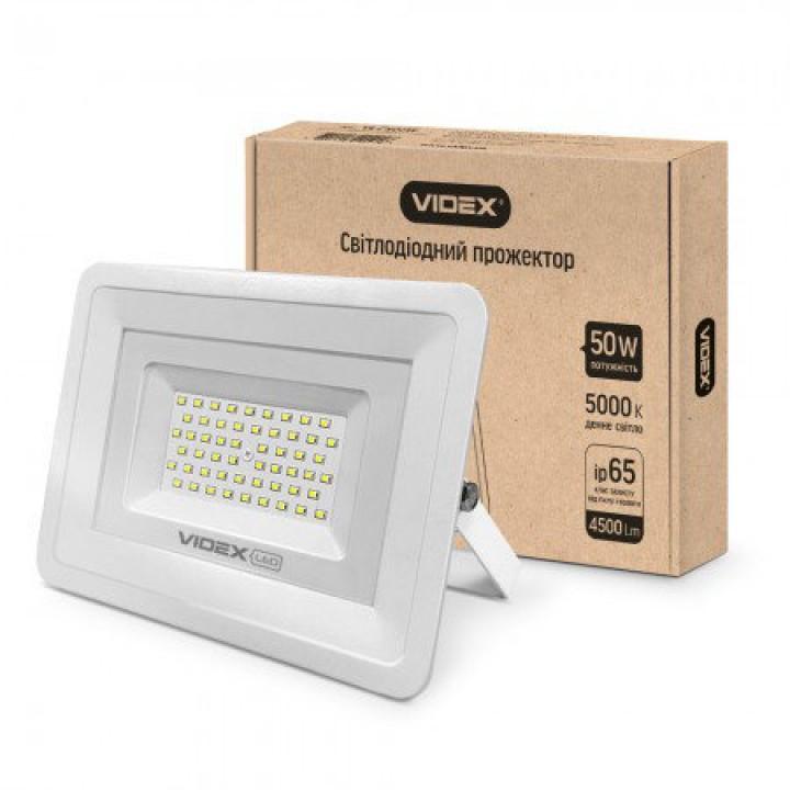 Videx прожектор 50W 5000K 220V (VL-Fe505W) белый