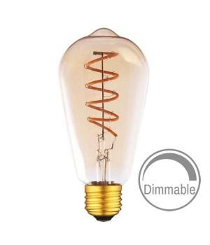 LED лампа VIDEX ST64FASD 5W E27 2200K 220V бронза димерная