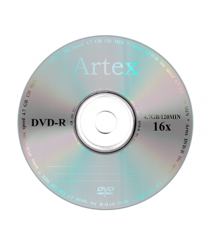 Диски DVD-R Artex 4.7 gb 16xbulk (упаковка 50 шт)