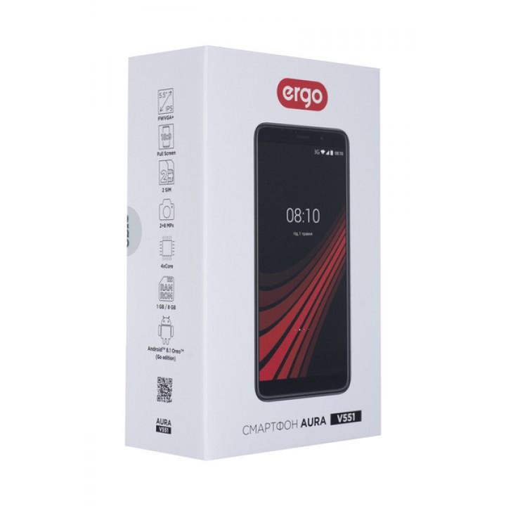Смартфон ERGO V551 Aura Dual Sim (black)