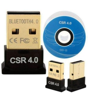 Компактный USB Bluetooth Ресивер Dongle CSR 4.0 RS071 (Чёрный)