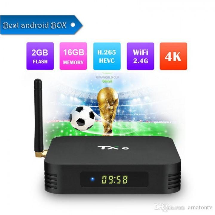 ТВ-приставка TV box TX6 (4/32Gb)Android 9.0 dual wi fi