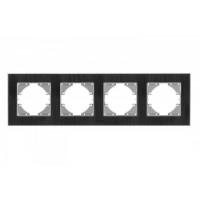 VIDEX BINERA Рамка черный алюминий 4 поста горизонтальная (VF-BNFRA4H-B) (13/78)