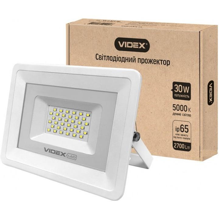 Videx прожектор 30W 5000K 220V (VL-Fe305W) белый