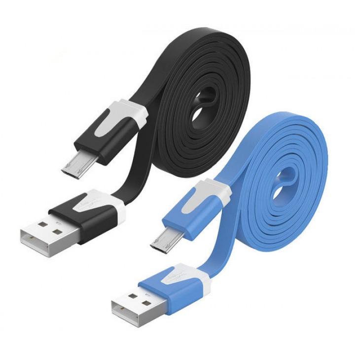 Кабель USB micro 3m flat V8 AR 74