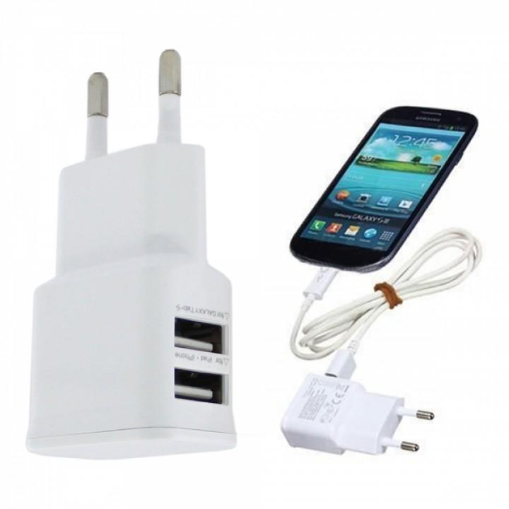 Сетевое зарядное устройство Samsung  2usb 2A