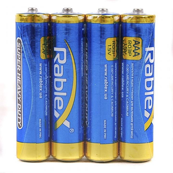 Батарейка Rablex Super R03 AAA 1.5V солевая