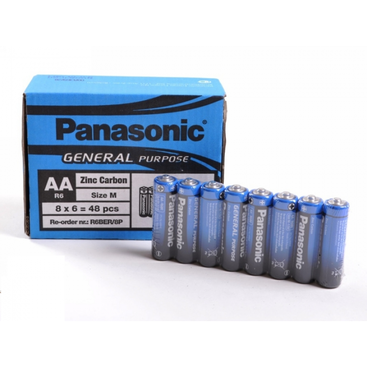 Батарейка Panasonic R6 (упаковка 8 батареек)