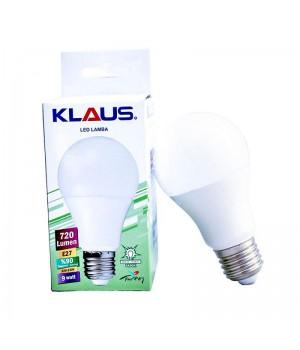 Светодиодная лампа KLAUS E27 9w 6500k