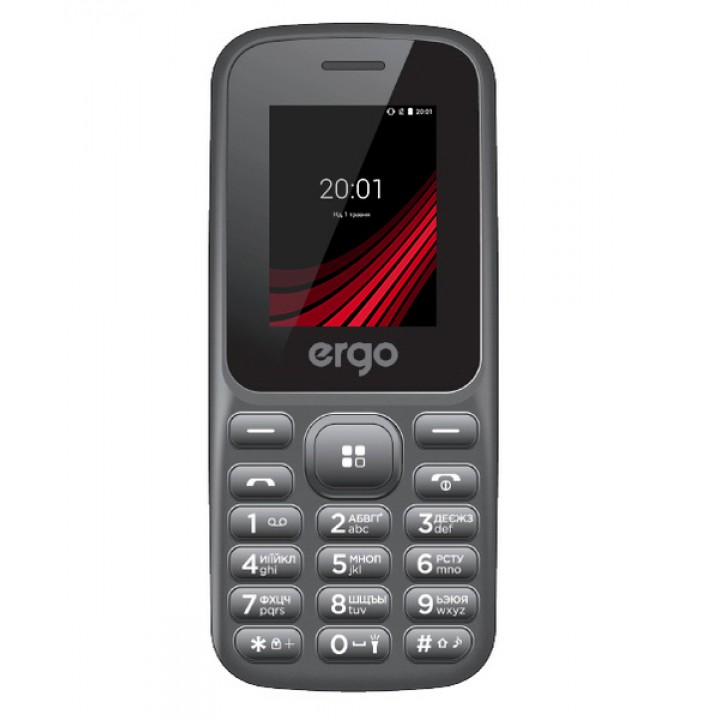 Мобильный телефон ERGO F187 CONTACT DUAL SIM BLACK