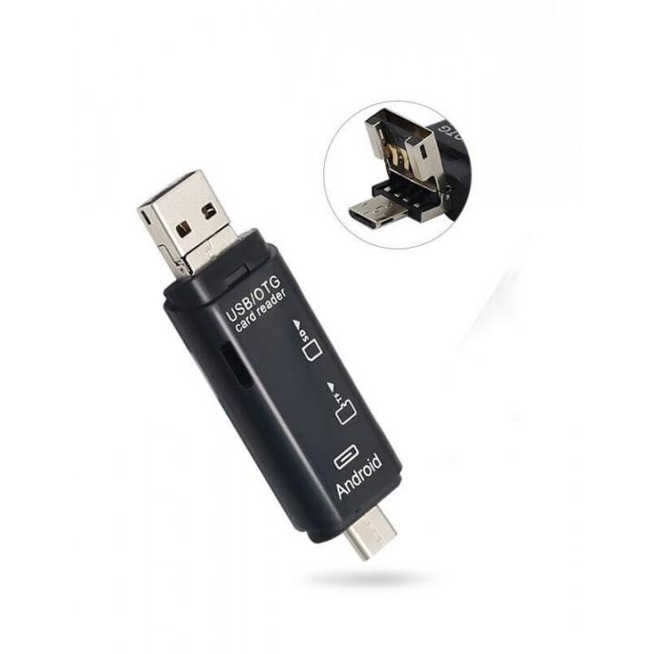 OTG переходник 3 в 1 Type-C, micro USB, картридер