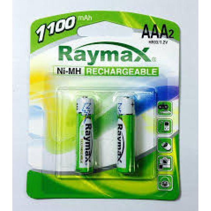 "Аккумуляторные батарейки ""Raymax"", HR3- 1100 mAh, (блистер 2 батарейки)"