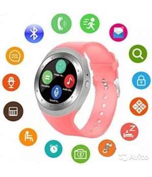 Смарт часы Y1X  с функцией фитнес-браслета pink