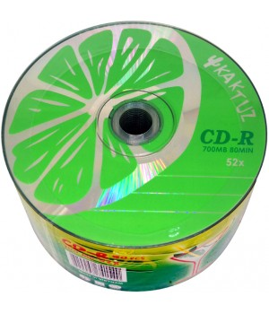 Диски CD-R KAKTUZ lime 700mb 52*bulk (50шт. упаковка)