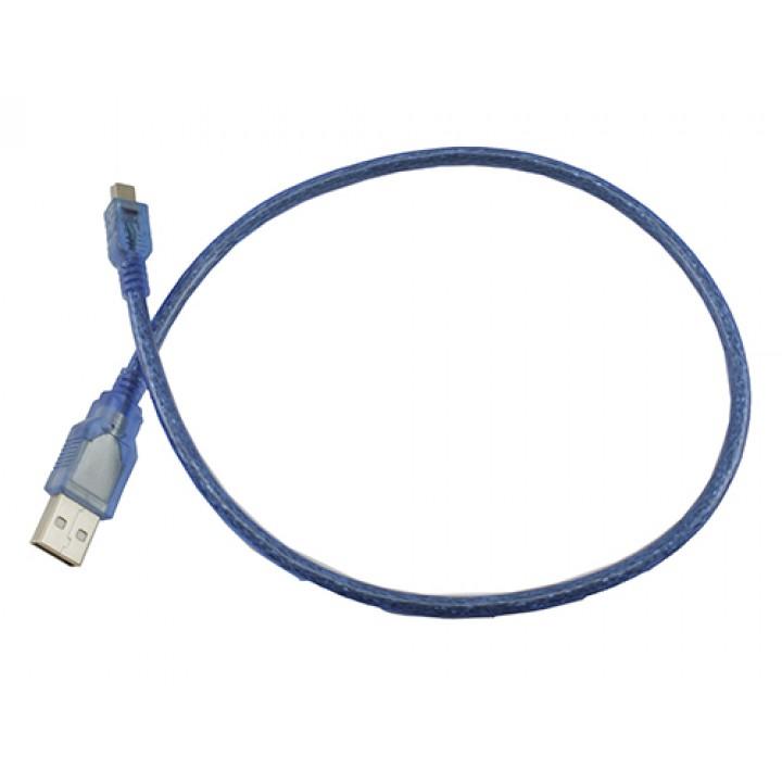Кабель USB mini usb (USB 2.0 AM/5p)  0.3m  blue оптом