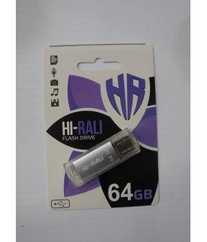 USB флешка Hi-Rali 64GB Rocket series silver