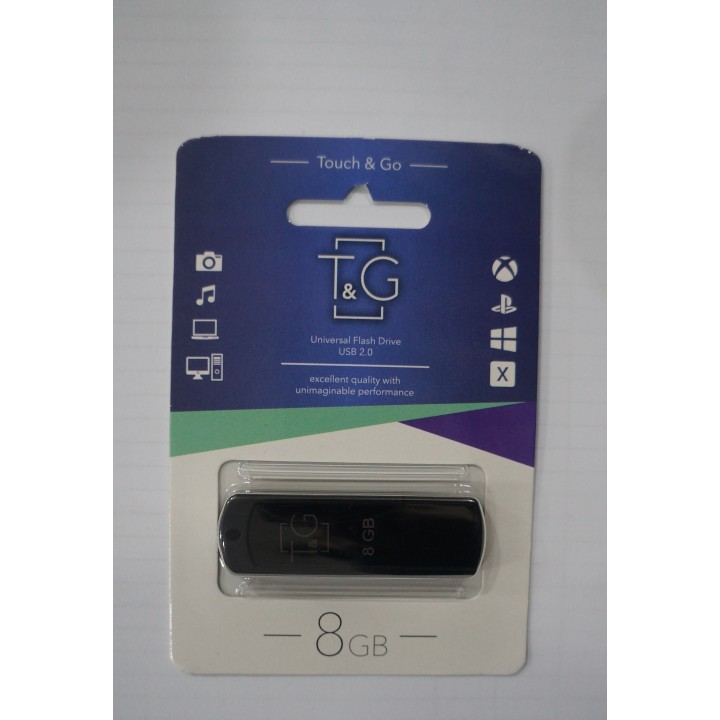 USB флешка T&G 011 Classic series 8GB Black