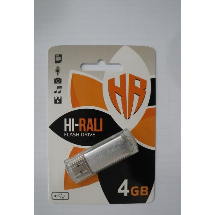 USB флешка Hi-Rali 4Gb Rocket silver