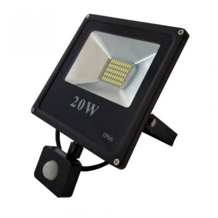 Прожектор LED с датчиком FL-20W-S  slim