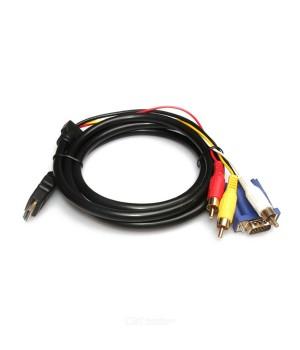Кабель HDMI/VGA/3RCA  1.5m black Y-Y TT810