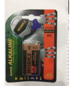 Батарейка Works 6LR61 крона блистер