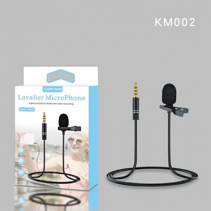 Петличный микрофон KM-002 3.5 mm TRSM Levalier MicroPhone