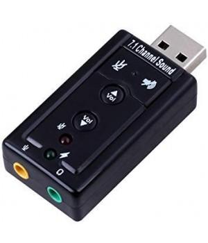 Внешняя звуковая карта USB 3D Sound card 7.1