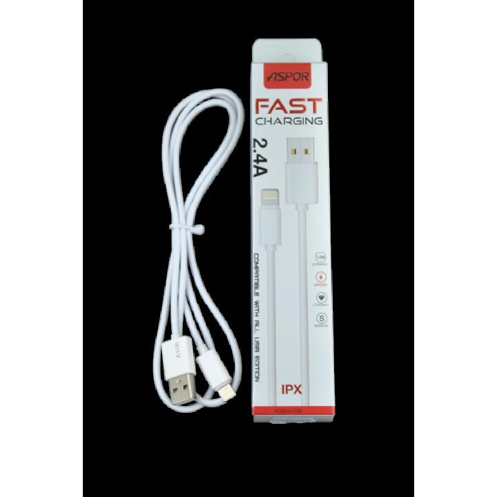 Кабель USB ASPOR A106 iphone