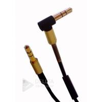 AUX кабель 3.5 m/m угловой с микрофоном Soloffer L22