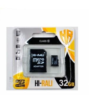 Micro SD карта памяти Hi-Rali 32GB 10 класс с адаптером
