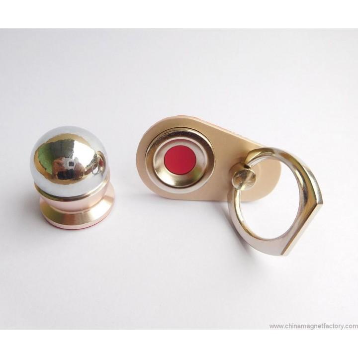 Автомобильный универсальный держатель для телефона магнит + кольцо