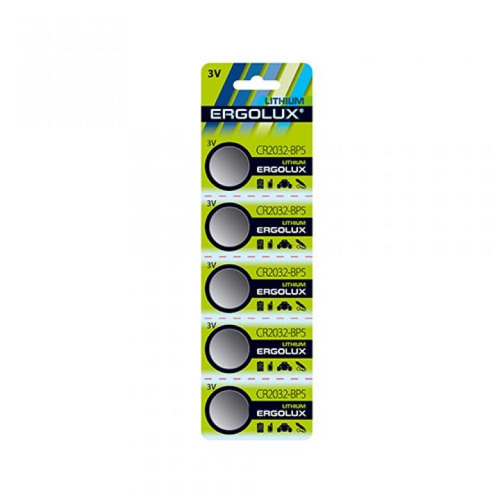 Батарейка Ergolux CR2032 (на блистере)