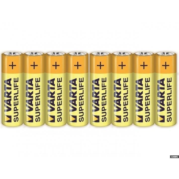 Батарейка Varta Superlife R06 солевая (shrink 8шт)