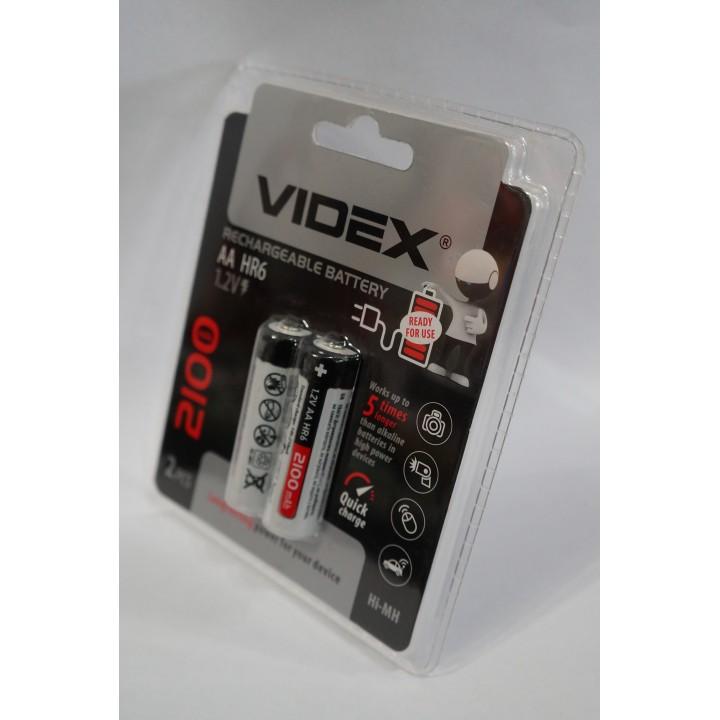 Аккумуляторная батарейка Videx HR6/AA 2100mAh (на блистере)