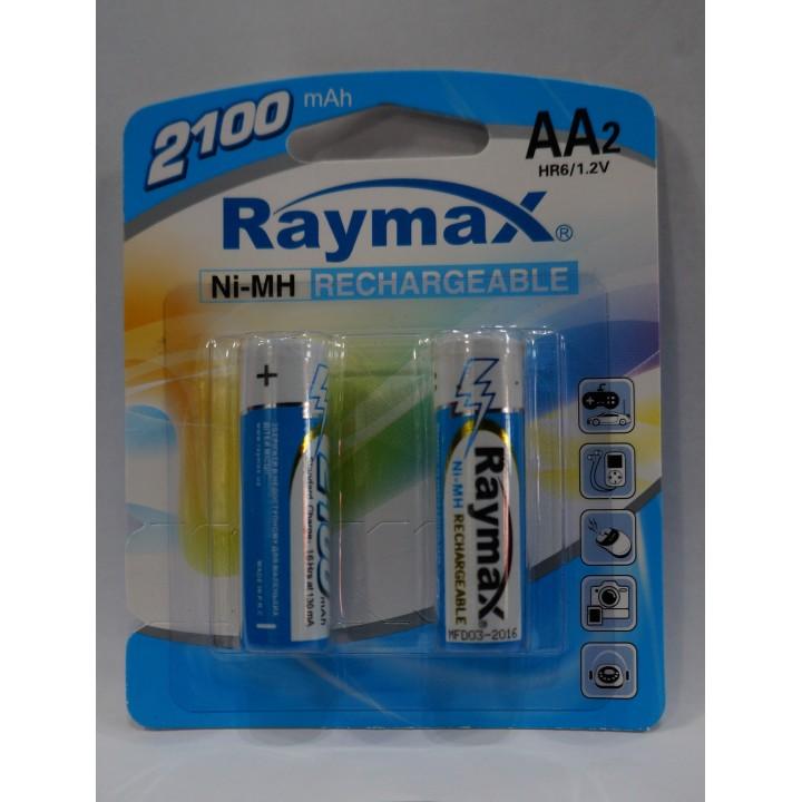Аккумуляторная батарейка Raymax HR6- 2100 mAh (на блистере)