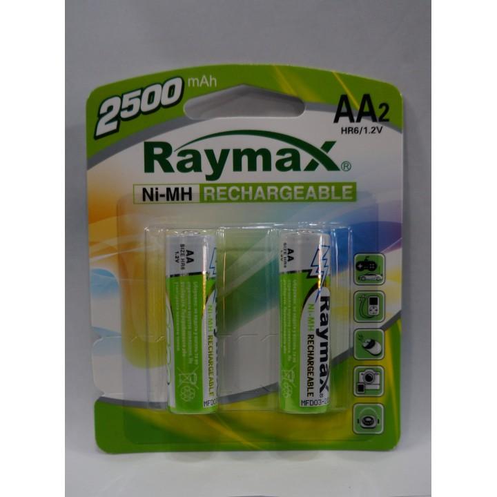 Аккумуляторная батарейка Raymax HR6- 2500 mAh (на блистере)