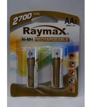 Аккумуляторная батарейка Raymax HR6- 2700 mAh (на блистере)